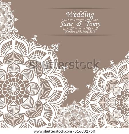 Vintage wedding card invitation mehndi mandala stock vector hd vintage wedding card invitation mehndi mandala design stopboris Images