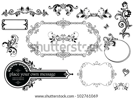 Vintage wedding decoration stock vector 2018 102761069 shutterstock vintage wedding decoration junglespirit Gallery