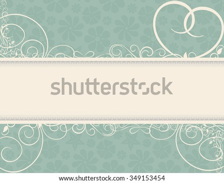 Vintage wedding frame background, vector - stock vector