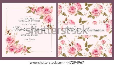 Wedding Invitation Images RoyaltyFree Images Vectors – Floral Vintage Wedding Invitations
