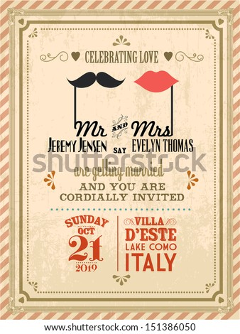 vintage wedding invitation stock photos, royaltyfree images, Wedding invitation