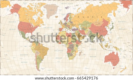Vintage world map detailed vector illustration vector de vintage world map detailed vector illustration gumiabroncs Choice Image