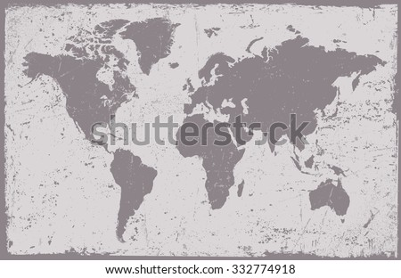 Vintage World Map World Map Grunge Stock Vector Royalty Free - Black and white vintage world map