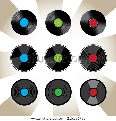Vinyl icon variations eps10 vector illustration