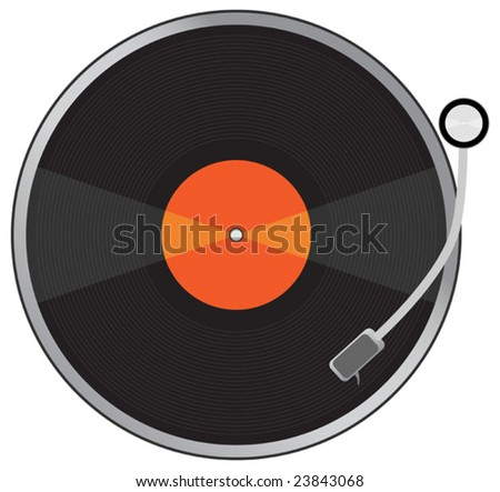 Vinyl plate. To see more please visit my gallery - stock vector