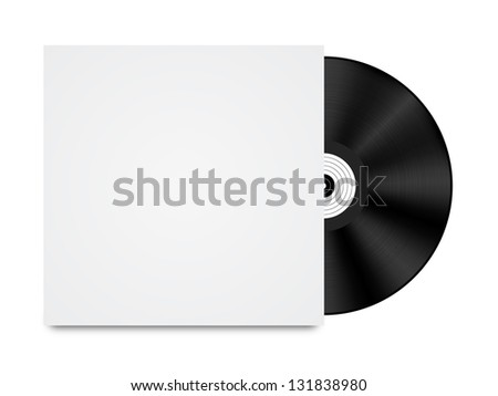 Vinyl Record in Envelope - stock vector