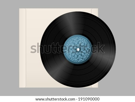 Vinyl record with a paper case.
