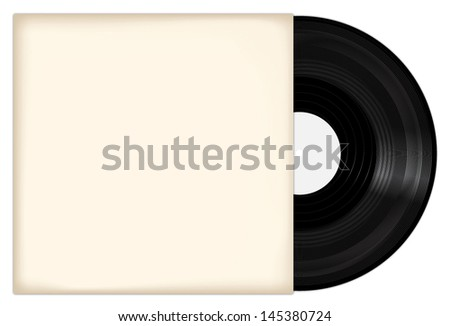 Vinyl record with cover. Vector illustration - stock vector