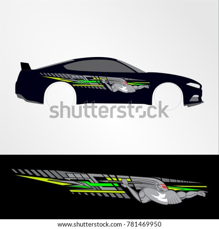 race car graphic design templates - decal vinyl stock images royalty free images vectors
