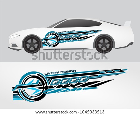 Vinyls sticker decals for car modif motorcycle racing vehicle graphics in isolated vector design race