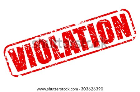 VIOLATION red stamp text on white - stock vector