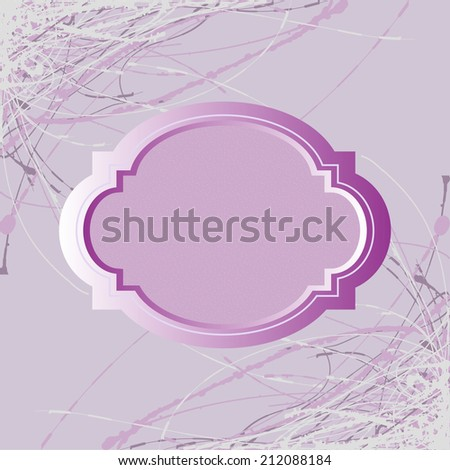 Violet abstract background vector card - stock vector