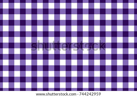 Violet And White Gingham Tablecloth Seamless Pattern