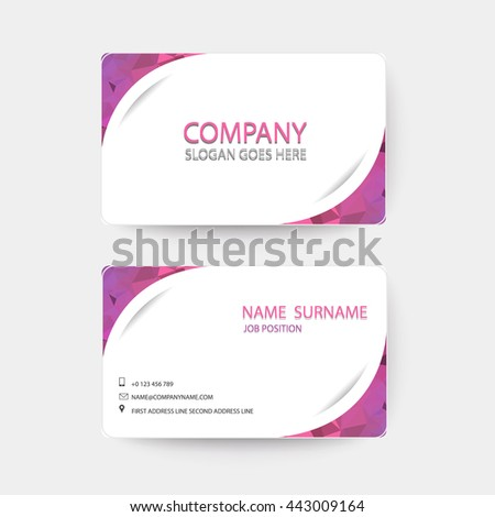 Violet and white Modern Business-Card. - stock vector