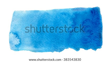 Violet blue watercolor hand drawn paper texture isolated round stain on white background. Wet brush painted smudges abstract vector illustration. Water drop design element for banner, print - stock vector