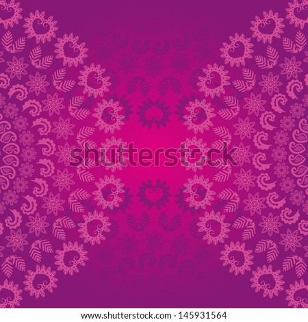 violet floral seamless - stock vector