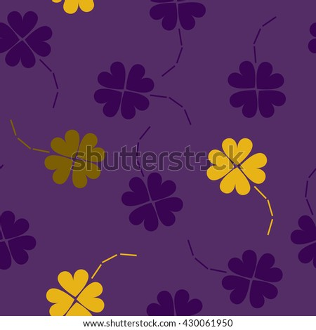 Violet, purple and yellow Seamless floral pattern. Flowers texture.