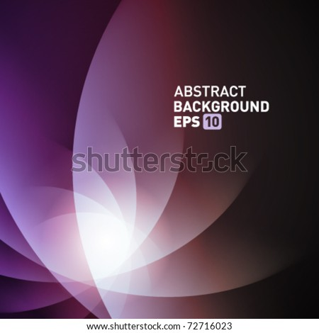 Violet smooth twist light lines vector background. Eps 10.