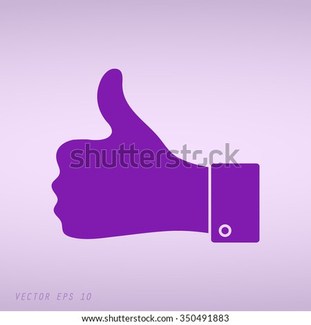 Violet thumbs up icon