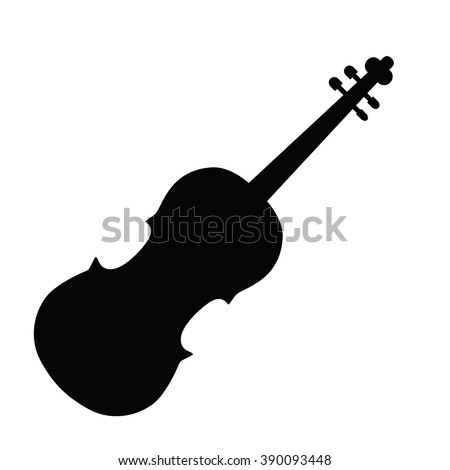 Violin icon Vector Illustration on the white background. - stock vector