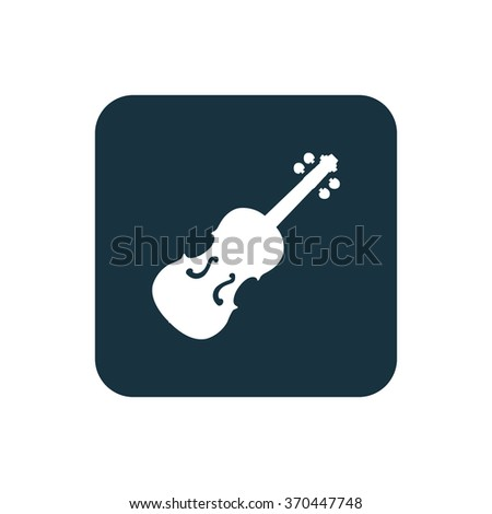 violin Icon Vector. violin Icon Art. violin Icon Picture. violin Icon Image. violin Icon logo. violin Icon Sign. violin Icon Flat. violin Icon design, on white background - stock vector