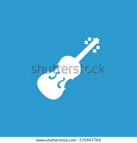 violin Icon Vector. violin Icon Art. violin Icon Picture. violin Icon Image. violin Icon logo. violin Icon Sign. violin Icon Flat. violin Icon design, on blue background - stock vector