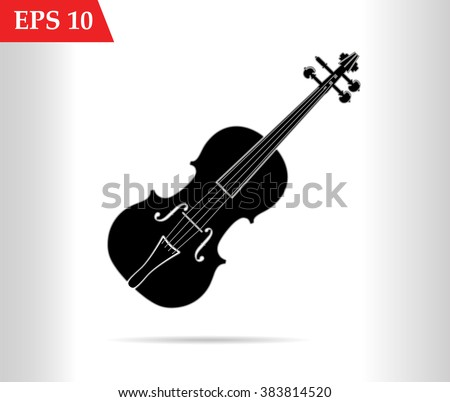 Violin isolated on white background vector illustration. Violin art, Violin vectorstock,Violin picture, Violin flat, Violin web, Violin art, Violin icon - stock vector