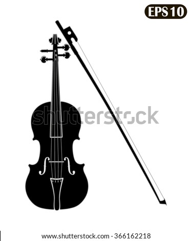 Violin isolated on white background vector illustration. Violin eps10, Violin vector, Violin icon eps, Violin jpg, Violin picture, Violin flat, Violin app, Violin iweb, Violin art, Violin icon - stock vector