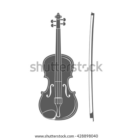 Violin. music instrument. Classic concert and festival. Violin vector illustration.