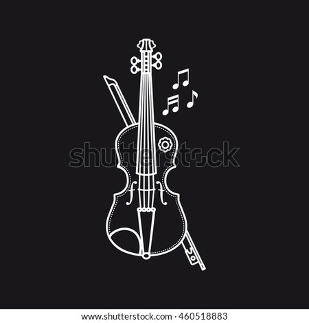 Violin Musical instrument. Child's toy. Vector.
