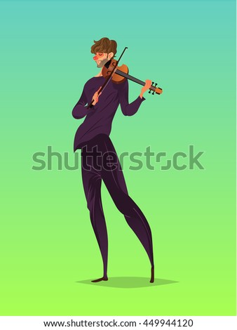 Violin player, Vector illustration.