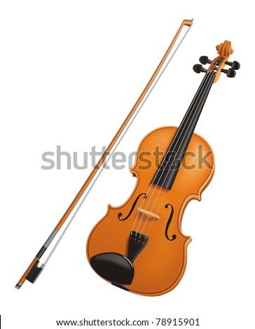 Violin vector - stock vector