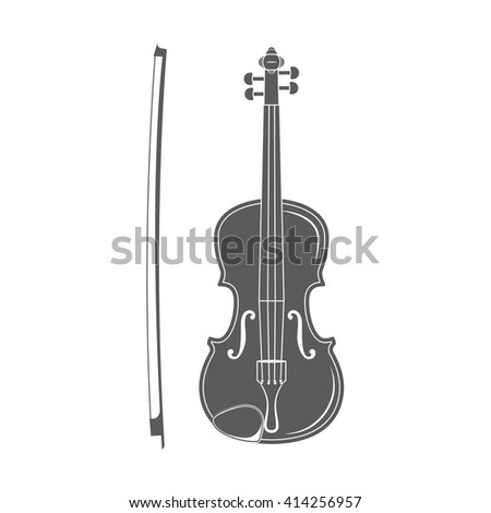 Violin with Bow. Music. Violin classical instrument.