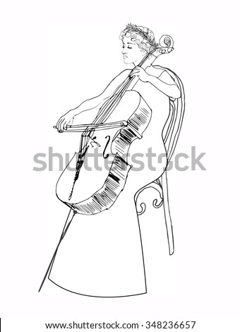 violoncello girl
