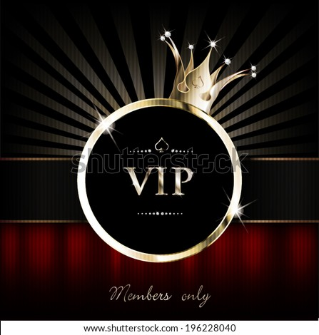 Vip Background With Crown And Drapery Stock Vector