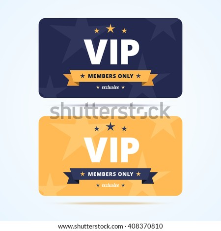 Captivating Vip Club Cards. Vector Illustration In Flat Style. Regard To Club Card Design