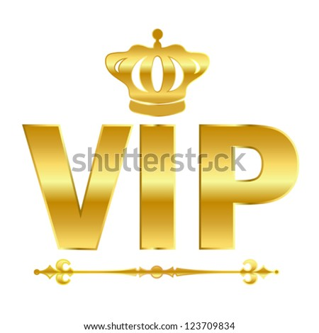 Vip golden vector symbol - stock vector