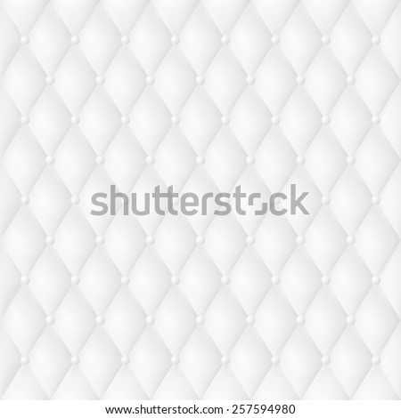 Vip Luxury White Leather Background With Buttons. EPS 10 - stock vector