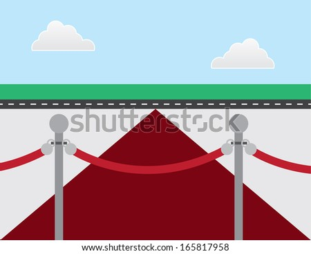 VIP rope and red carpet  - stock vector