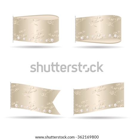 VIP service and VIP club labels. Vector. - stock vector