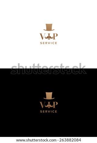 Vip service logo teamplate. - stock vector