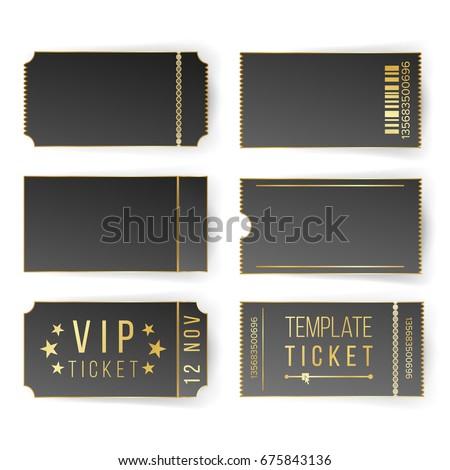 Vip Ticket Template Vector Empty Black Stock Vector 675843136 ...