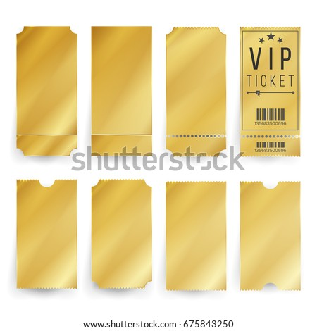 Golden ticket stock images royalty free images vectors vip ticket template vector empty golden tickets and coupons blank isolated illustration pronofoot35fo Images