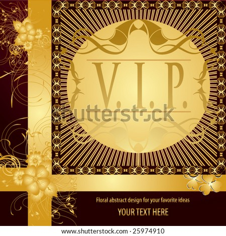 VIP - very important person. Vector cover background - stock vector