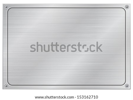 virgin aluminum panel - stock vector
