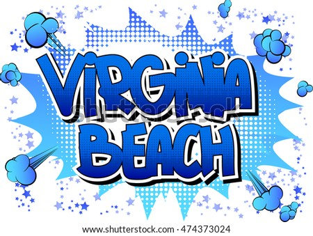 Virginia Beach - Comic book style word.