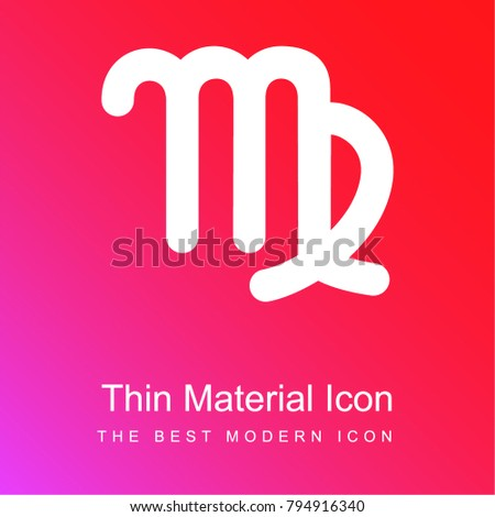 Virgo Astrological Symbol Sign Red Pink Stock Vector 794916340