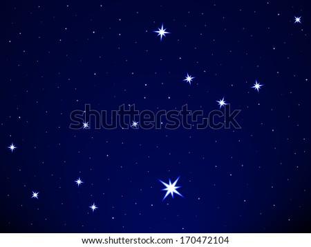 Virgo constellation on the starry sky - stock vector