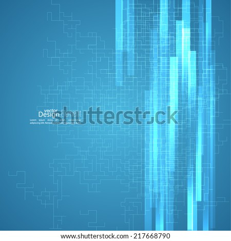 Virtual abstract background,  cyberspace structure.  creative vector. Science and connection concept. Social network. neon beams - stock vector