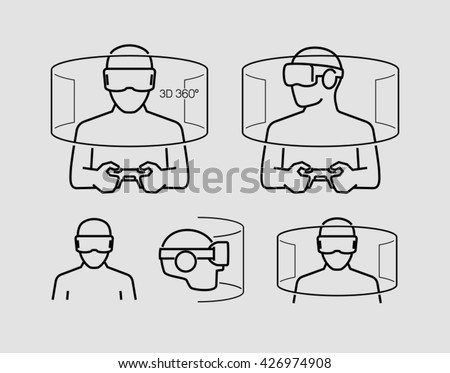 Virtual Reality Glasses Icons